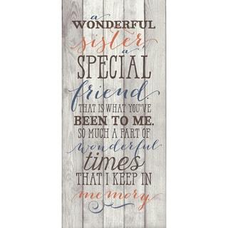 Dexsa Sister, A Special Friend New Horizons Wood Plaque