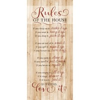 Dexsa Rules Of The House New Horizons Wood Plaque