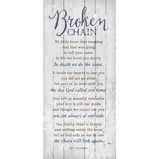 Dexsa Broken Chain New Horizons Wood Plaque