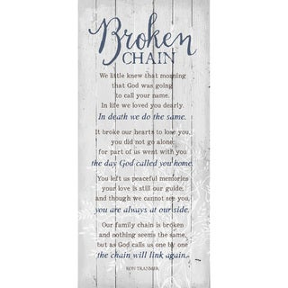 Dexsa Broken Chain New Horizons Wood Plaque