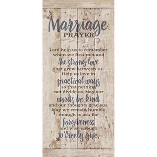 Dexsa Marriage Prayer New Horizons Wood Plaque