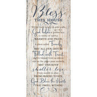 Dexsa Bless This House New Horizons Wood Plaque