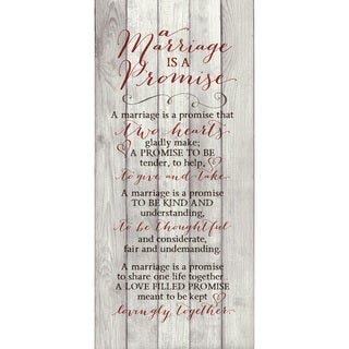 Dexsa A Marriage Is A Promise New Horizons Wood Plaque