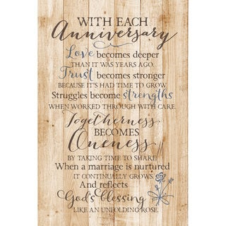 Dexsa With Each Anniversary New Horizons Wood Plaque with Easel