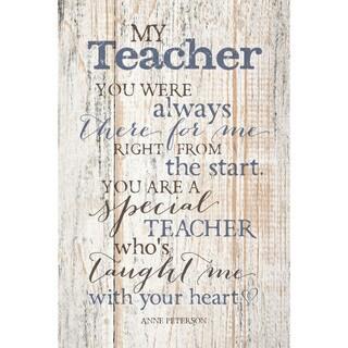 Dexsa My Teacher New Horizons Wood Plaque with Easel
