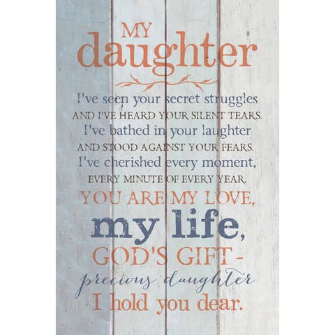 Dexsa My Daughter New Horizons Wood Plaque with Easel