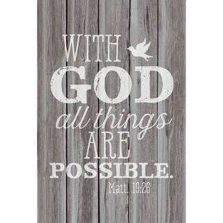 Dexsa With God All Things New Horizons Wood Plaque with Easel