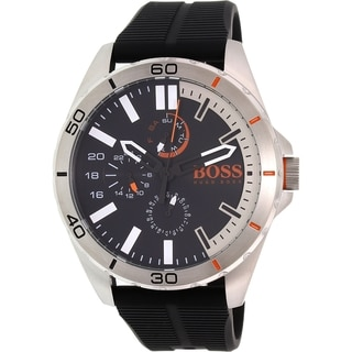Hugo Boss Men's Black Silicone Orange 1513290 Quartz Watch