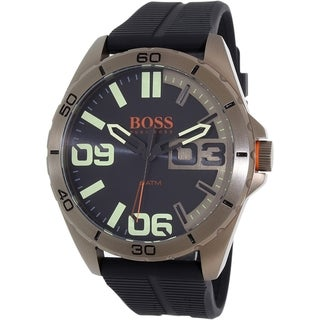 Hugo Boss Men's Black Silicone Orange 1513287 Quartz Watch