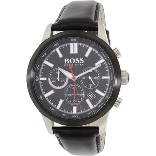 Hugo Boss Men's Black Leather Racing 1513191 Quartz Watch