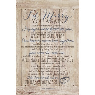 Dexsa I'D Marry You New Horizons Wood Plaque with Easel