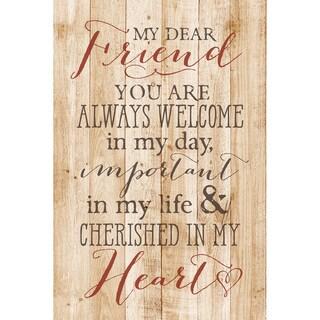 Dexsa My Dear Friend New Horizons Wood Plaque with Easel