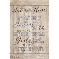 Dexsa Sisters In Heart New Horizons Wood Plaque with Easel  - Multi