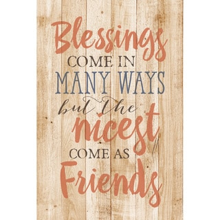 Dexsa Blessings Come In Many New Horizons Wood Plaque with Easel