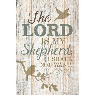 Dexsa The Lord Is My Shepherd New Horizons Wood Plaque with Easel