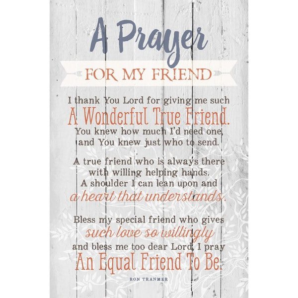 Dexsa Prayer For My Friend New Horizons Wood Plaque with Easel