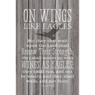 Dexsa On Wings Like Eagles New Horizons Wood Plaque with Easel