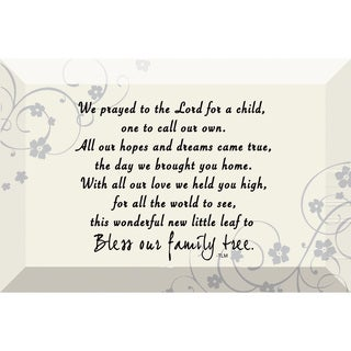 Dexsa We Prayed For A Child Beveled Glass Plaque with Easel