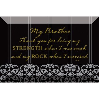 Dexsa My Brother Beveled Glass Plaque with Easel
