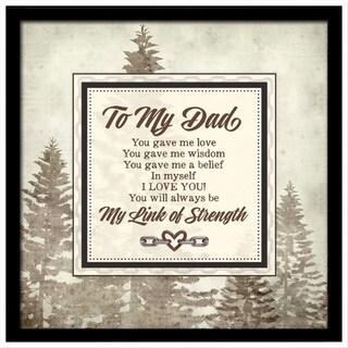 Dexsa To My Dad Links of Strength Framed Plaque