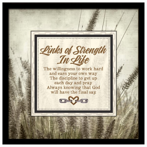 Dexsa In Life Links of Strength Framed Plaque