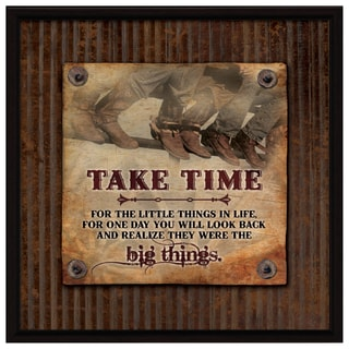 Dexsa Take Time Wood Plaque with Easel Back