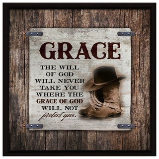 Dexsa Grace-The Will Wood Plaque with Easel Back