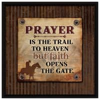 Dexsa Prayer Is The Trail Wood Plaque with Easel Back