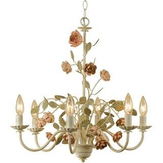 Ramblin' Rose 6-light Chandelier