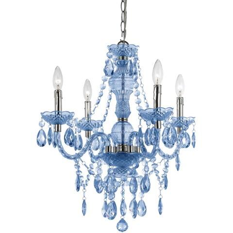 Naples Light Blue 4-light Mini Chandelier