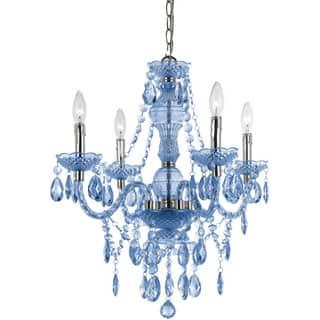 Buy blue ceiling lights online at overstock our best lighting naples light blue 4 light mini chandelier aloadofball Gallery