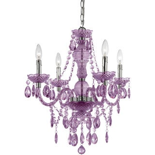 Naples Light Purple 4-light Mini Chandelier