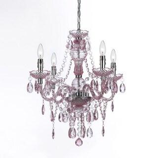 Naples Pink 4-light Mini Chandelier (Option: Pink)