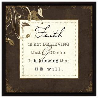 Dexsa Faith Is Not Belie Wood Frame Plaque with Easel