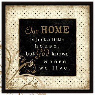 Dexsa Our Home Wood Frame Plaque with Easel
