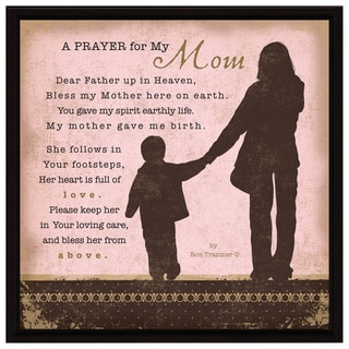 Dexsa Prayer My Mom Wood Frame Plaque with Easel