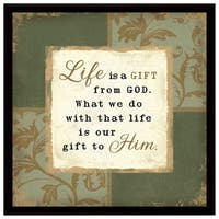 Dexsa Life Is A Gift Wood Frame Plaque with Easel