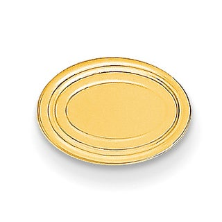 Versil 14k Yellow Gold Oval Tie Tac