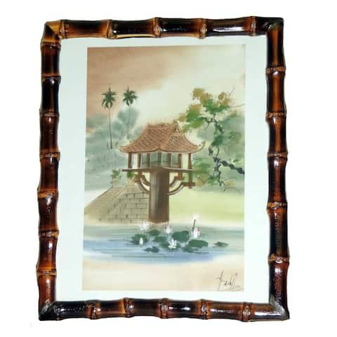 Handmade Burnt Bamboo Frame (Vietnam)