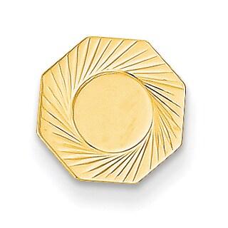 Versil 14 Karat Yellow Gold Etched Tie Tac