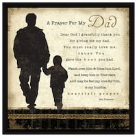 Dexsa Prayer My Dad Wood Frame Plaque with Easel