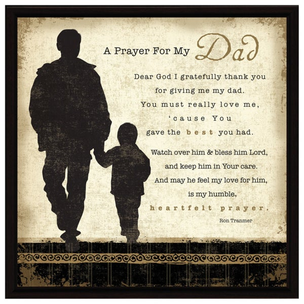 Dexsa Prayer My Dad Wood Frame Plaque with Easel - Free Shipping On ...