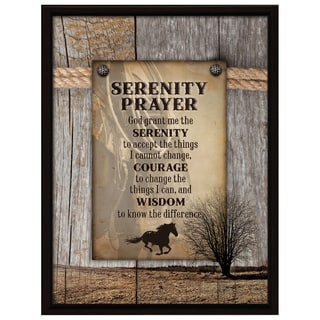 Dexsa Serenity Prayer Wood Plaque with Easel Back