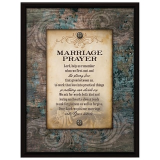 Dexsa Marriage Prayer Wood Plaque with Easel Back