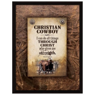Shop Dexsa Christian Cowboy Wood Plaque With Easel Back