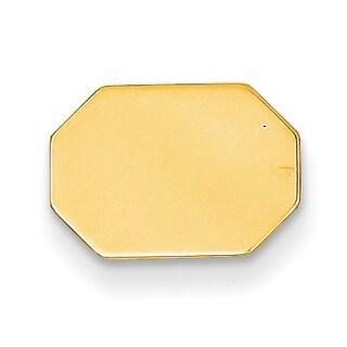 Versil 14k Yellow Gold Octagon Tie Tac