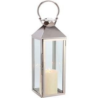 Classic Polished Nickel 21-inch Lantern