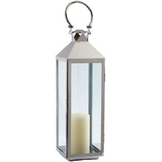 Classic Polished Nickel 32-inch Lantern