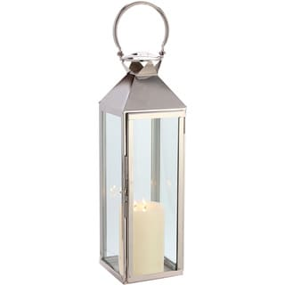 Classic Polished Nickel 27-inch Lantern