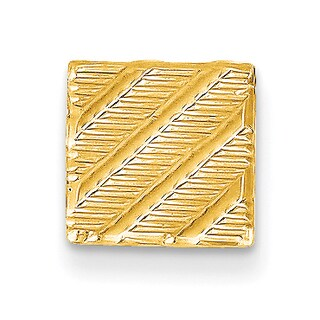 Versil 14k Yellow Gold Square Tie tac